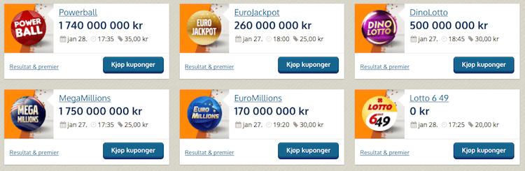 NorgesSpill lotto