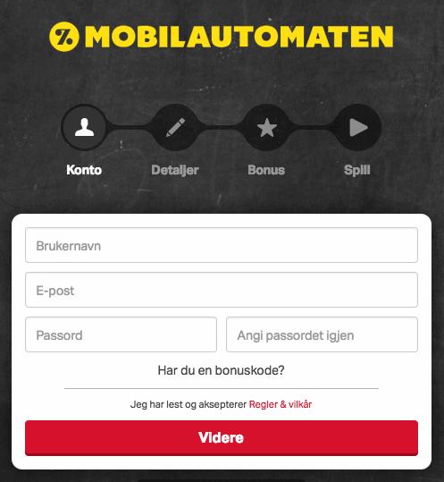 Mobilautomaten sign up