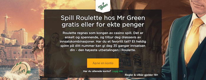 Mr Green roulette